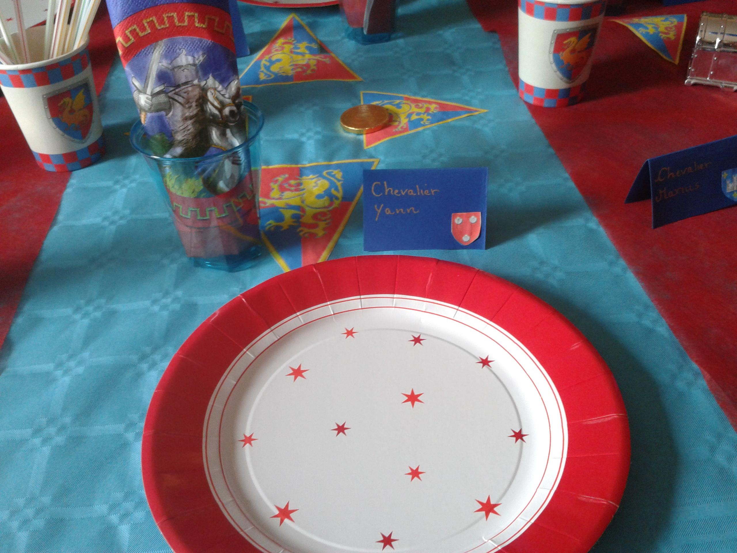 Mise en table decoration roi-chevalier