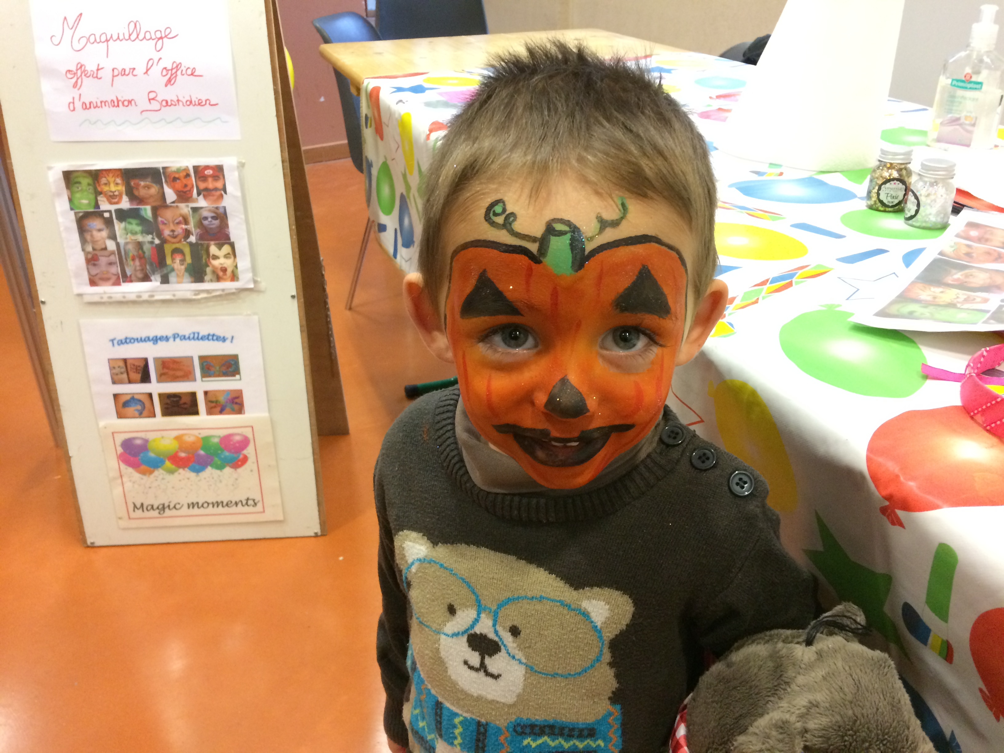 Animation Maquillage enfants Labastide rourairoux Tarn