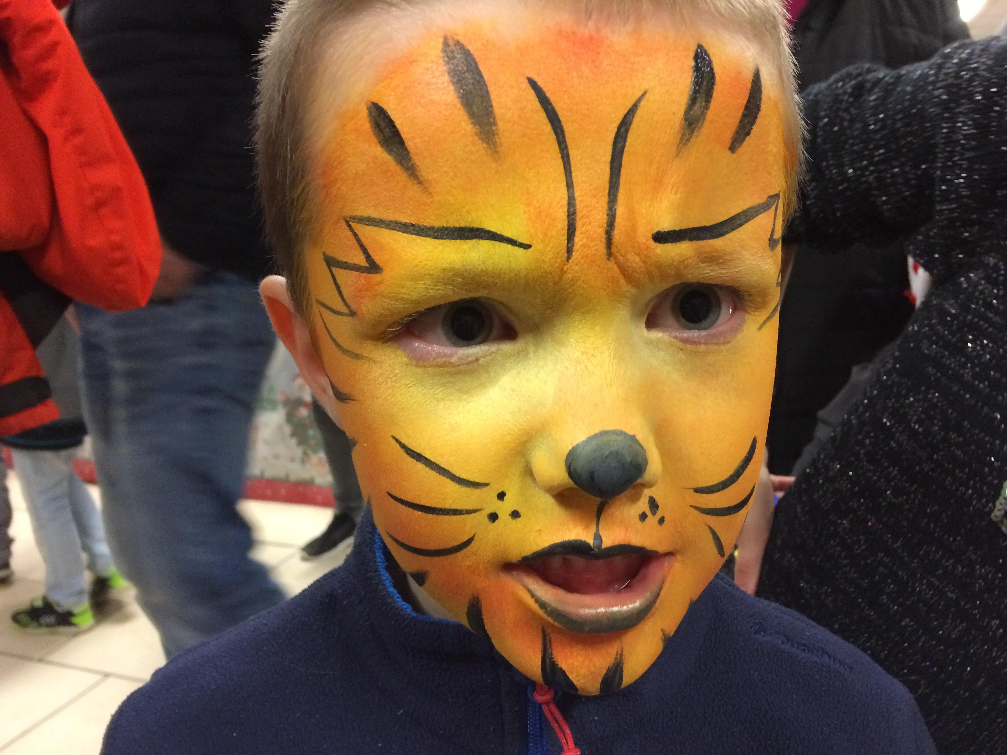 Maquillage tigre Marché de Noël